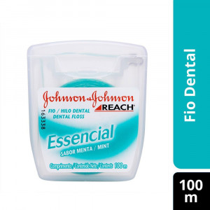 Fio Dental Reach Johnson's Essencial Menta 100m
