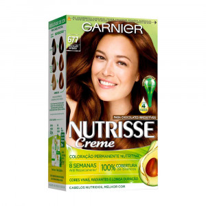 Garnier Nutrisse Coloração Creme - Chocolate Intenso 677