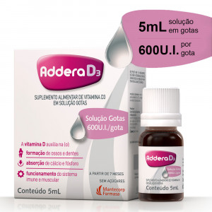 Addera D3 Gotas 5mL (Colecalciferol 600UI/mL)