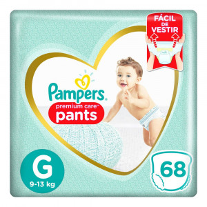 Fralda Pampers Pants Premium Care - G c/68 Unidades