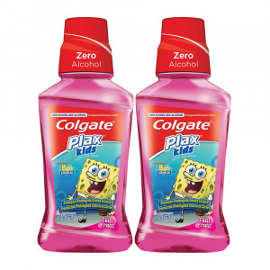 Kit 2x250mL Enxaguante Bucal Antisséptico Colgate Plax Kids