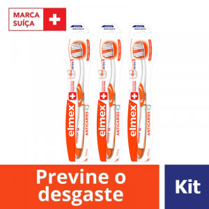 Kit c/3 elmex Escova Dental