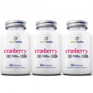 Kit 3x60 Cranberry Nature Healthy 500mg (180 Cápsulas)