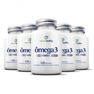 Kit 5x120 Ômega 3 Nature Healthy 1000mg (600 Cápsulas)